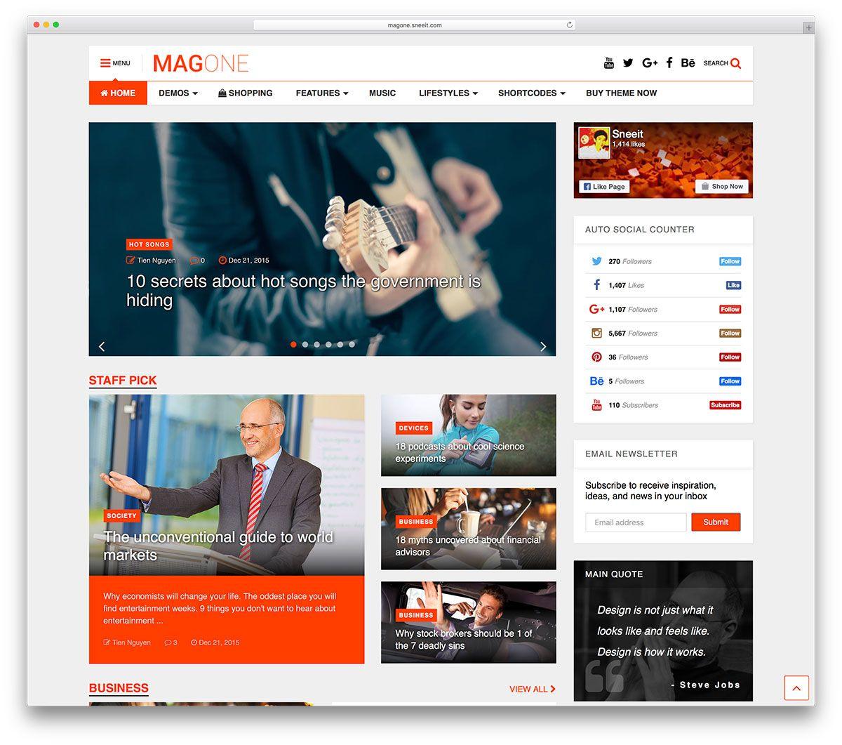 magone-creative-magazine-wordpress-theme | Themes for Website ...
