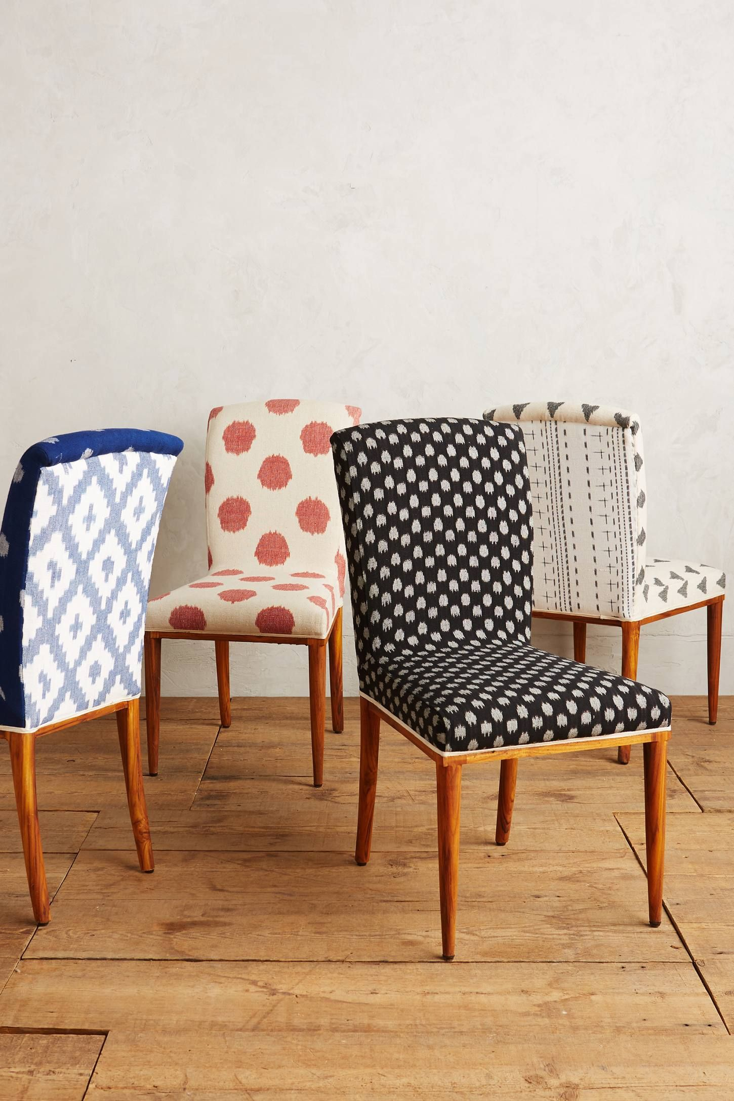 Elza Ikat Dining Chair Fabric Dining Chairs