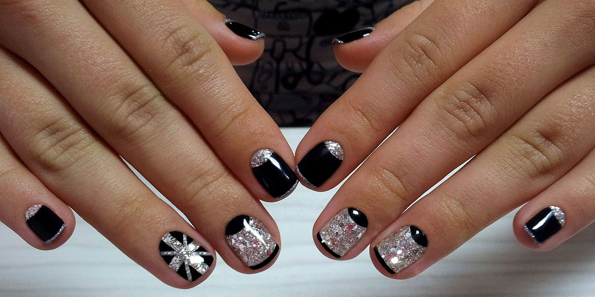 Nail Art #3856 - Best Nail Art Designs Gallery | Moon nails, Silver ...