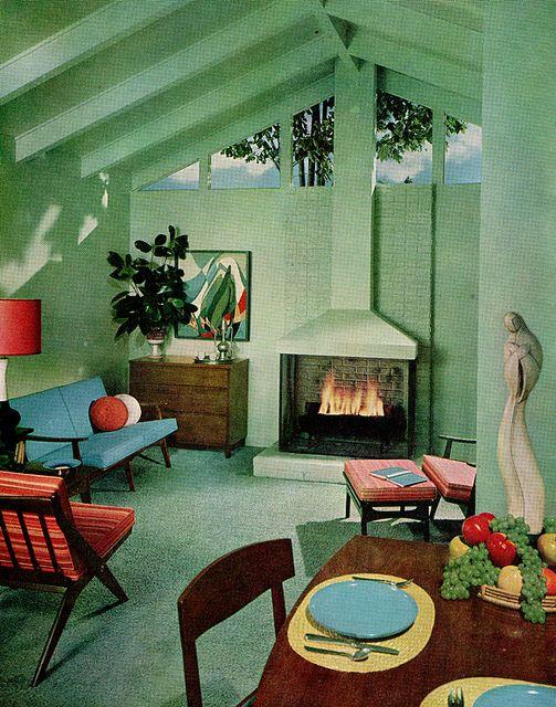 sherwin william home decorator 1959 interiors mid century rh pinterest com