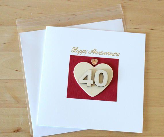 Ruby Wedding Gift Ideas For Husband: 40th Wedding Anniversary Card Gift, Ruby Anniversary Card