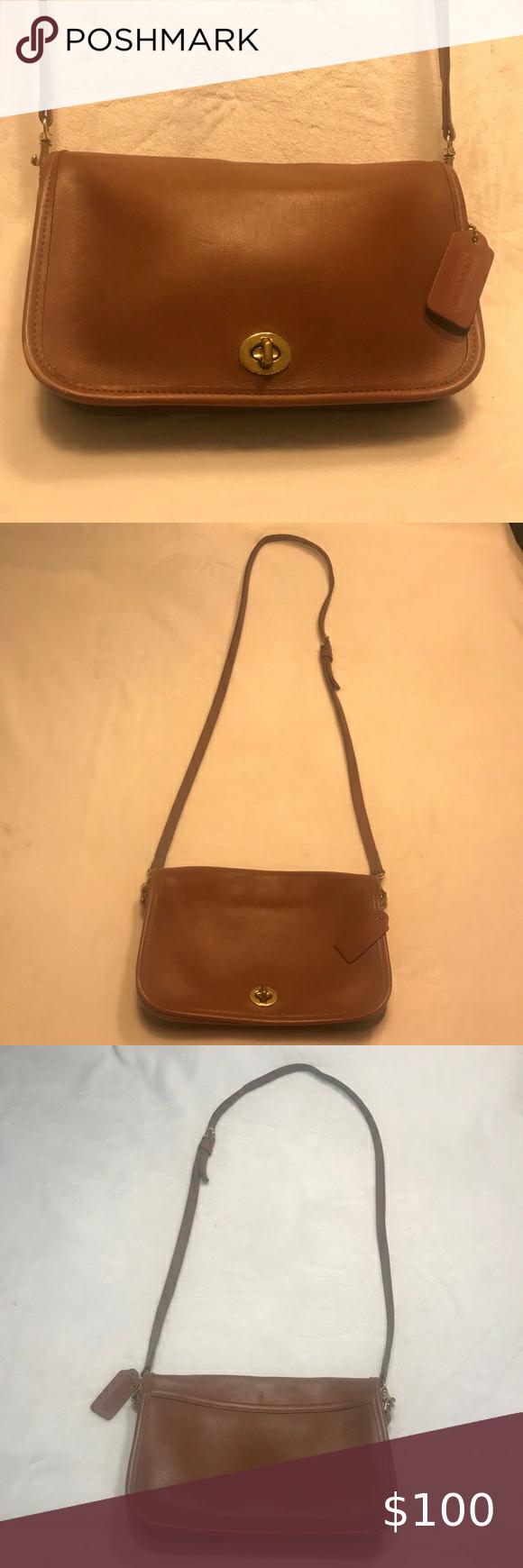 Coach Vintage Penny Pocket Purse Saddle Br…