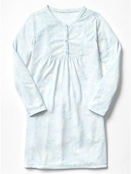 Printed henley nightgown