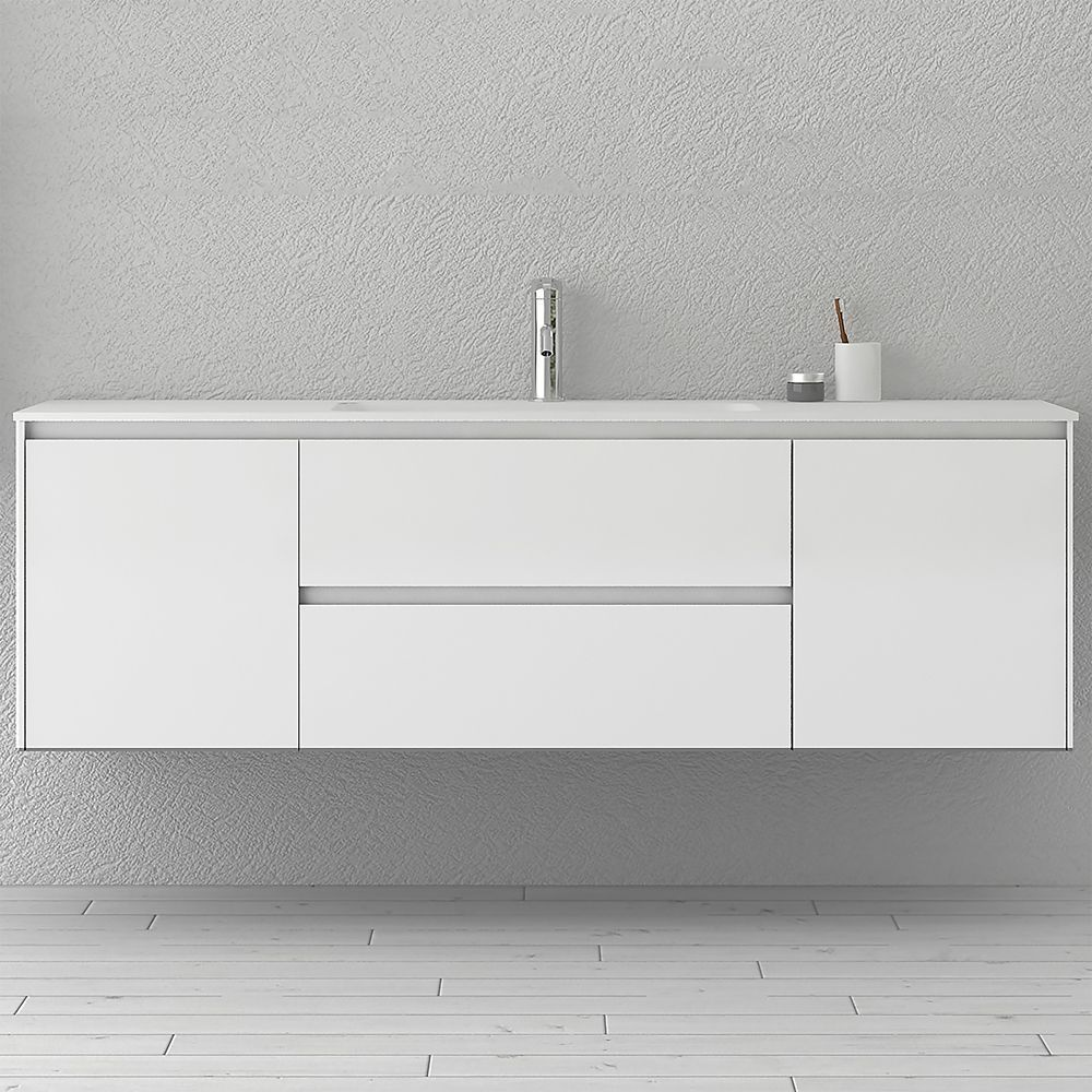 morgan 63 inch single wall mounted modern white bathroom vanity with rh pinterest com