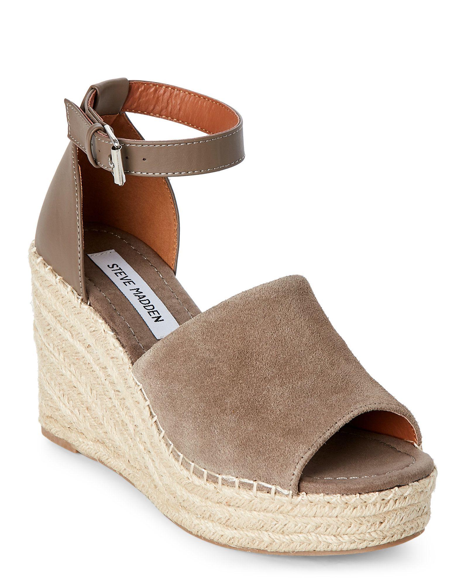 199b7b0ef657 Taupe Jaylen Platform Wedge Espadrille Sandals - Century 21