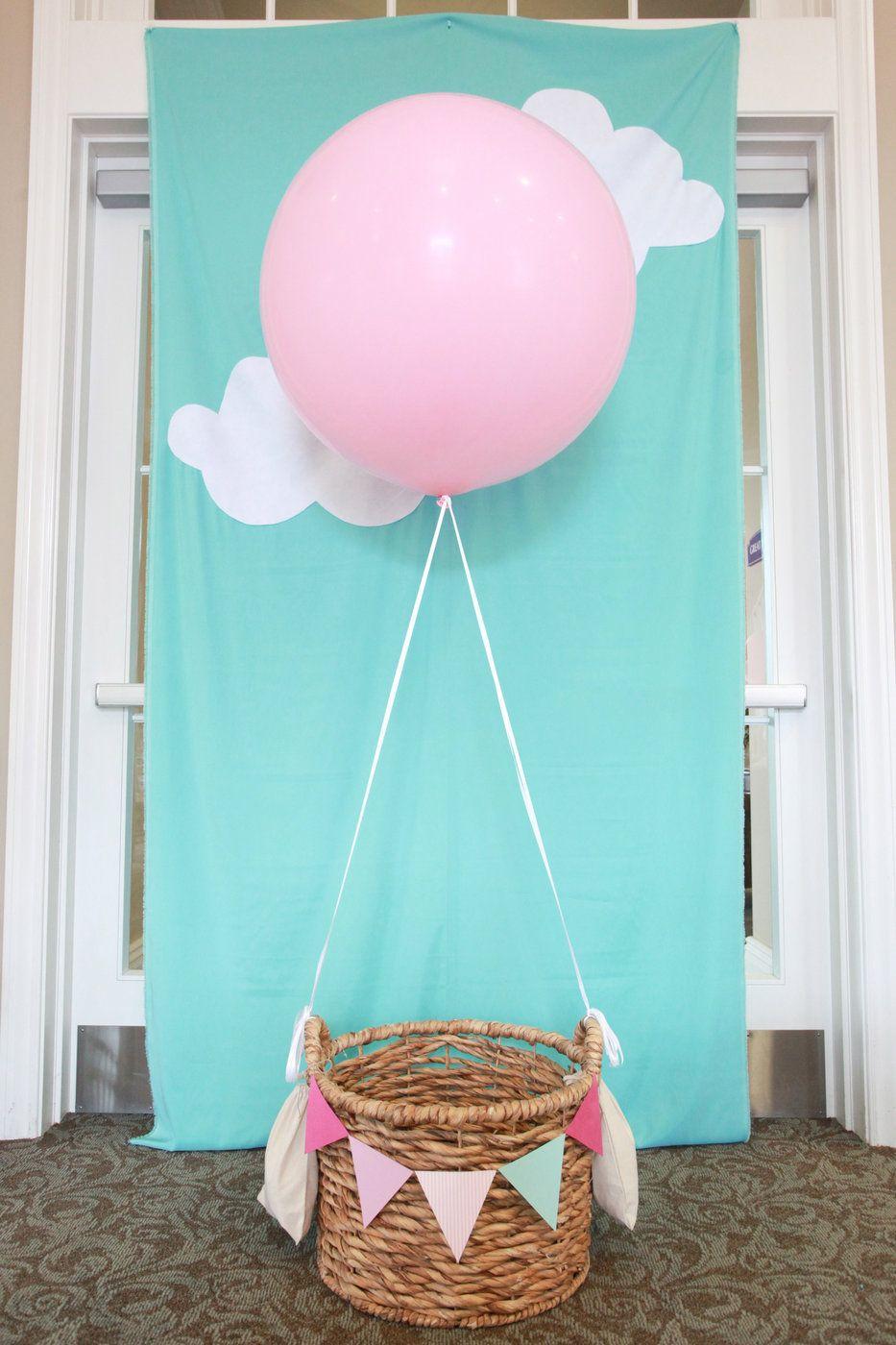 Foto hintergrund supers mit ballon f r baby party - Baby shower ideen ...