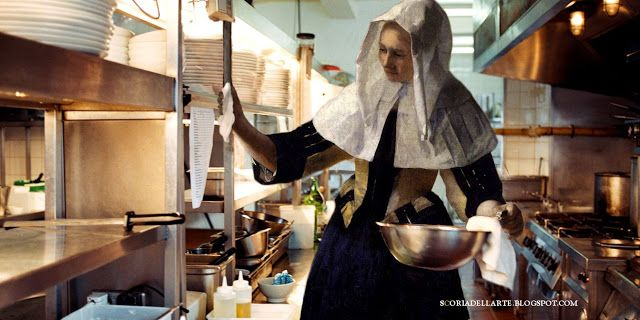Donna Con Brocca Dacqua J Vermeer Art About Food Cooking In