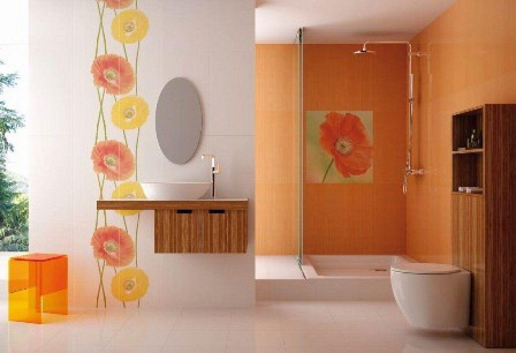 Pin de studio de color en naranja pinterest ba o for Decoracion hogar naranja