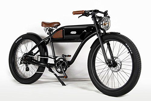 Nice T4b Greaser Retro Style Electric Bike 44 One Size Black Electric Bike Electric Bicycle Ebike