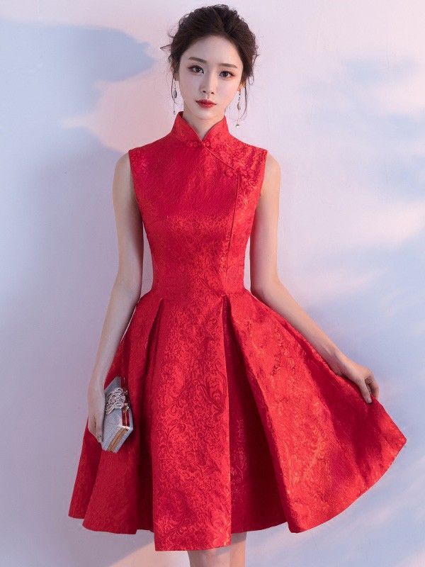 80c6d2f2d Red Fit & Flare Qipao / Cheongsam Wedding Dress | Cheongsam - Qipao ...