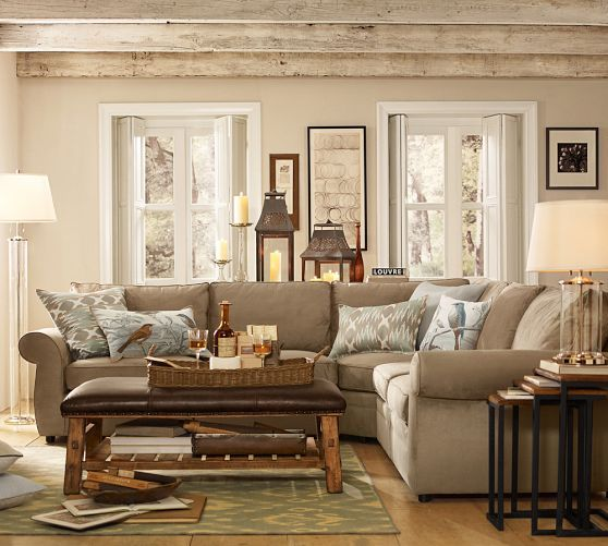 caden leather rectangular ottoman in 2019 living room ideas rh pinterest com