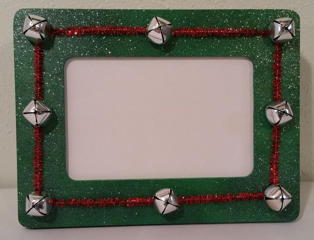 Christmas holiday hand painted & decorated 4x6 jingle bell picture ...