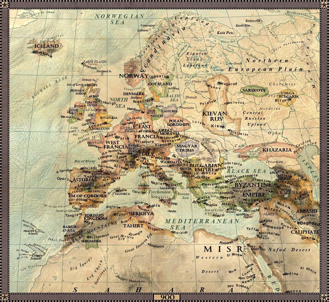 Europe In 900 Istorie Geografie