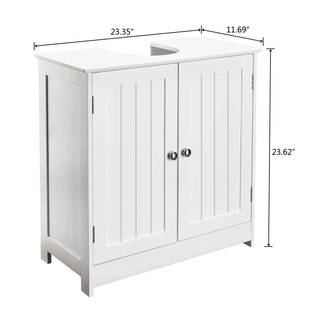 44++ Homcom 24 pedestal sink bathroom vanity cabinet white ideas
