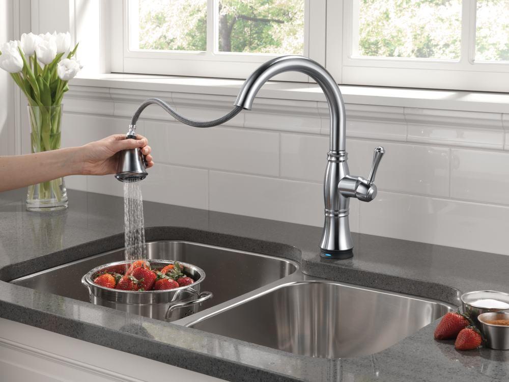 moen pull down kitchen faucet reviews then aquasource pull down rh pinterest com