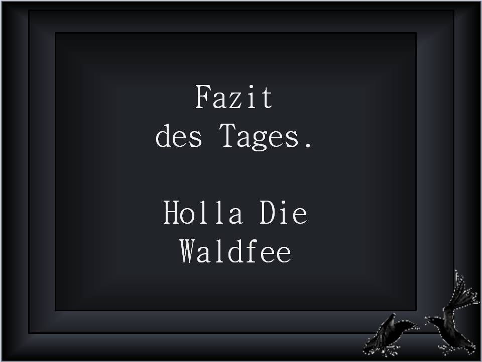 Fazit Des Tages Holla Die Waldfee Stuff Quotes Words Und Words