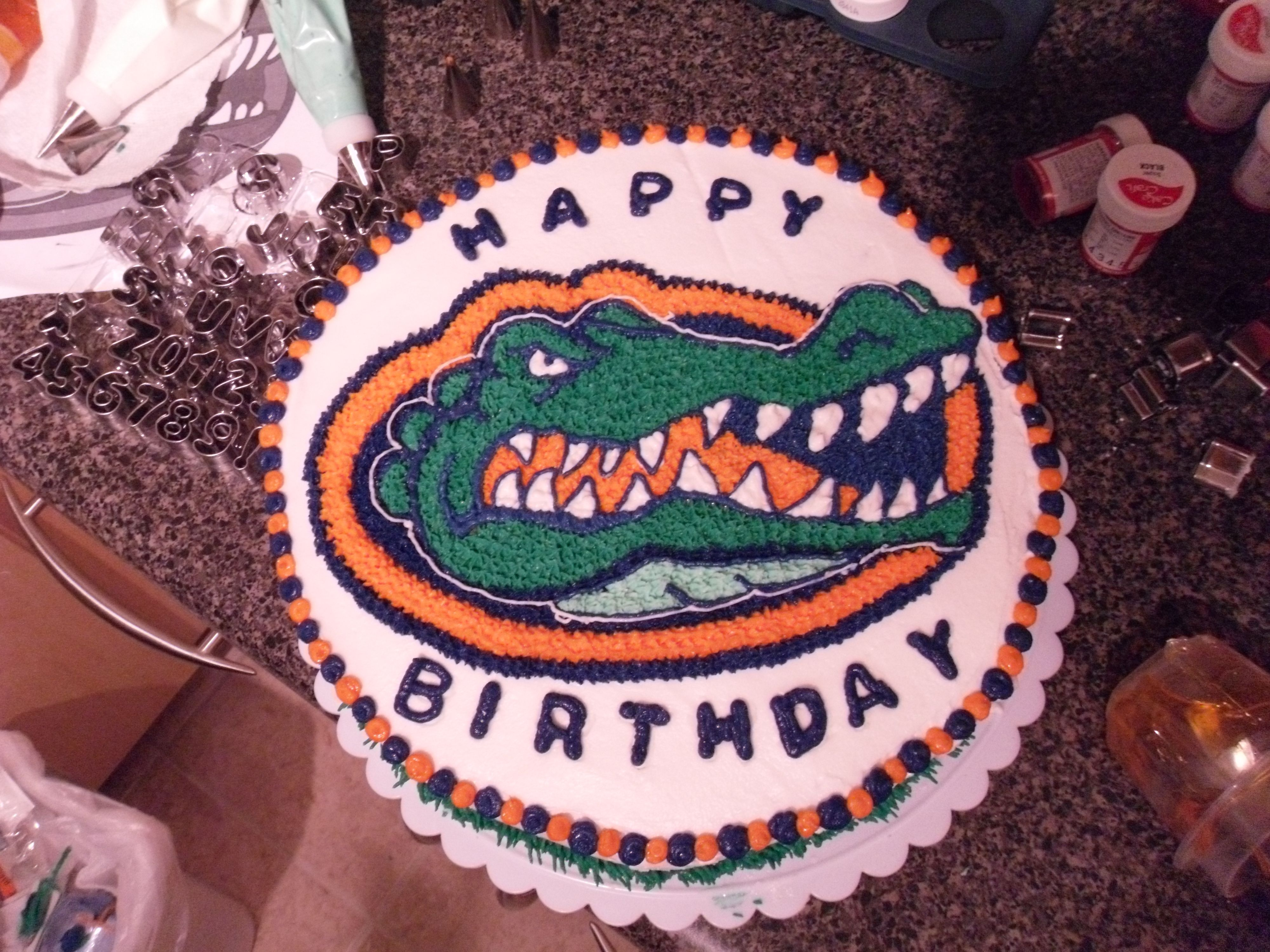 Enjoyable Florida Gators Birthday Florida Gators Happy Birthday Personalised Birthday Cards Veneteletsinfo