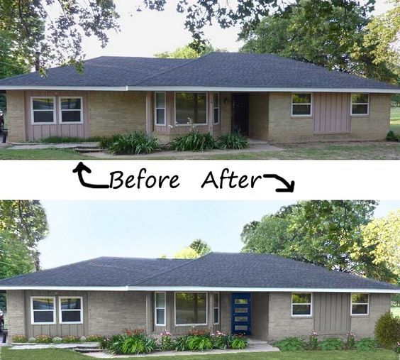 Curb Appeal 1960 S Ranch Google Search Brick Exterior House Ranch Style Homes Ranch House Exterior