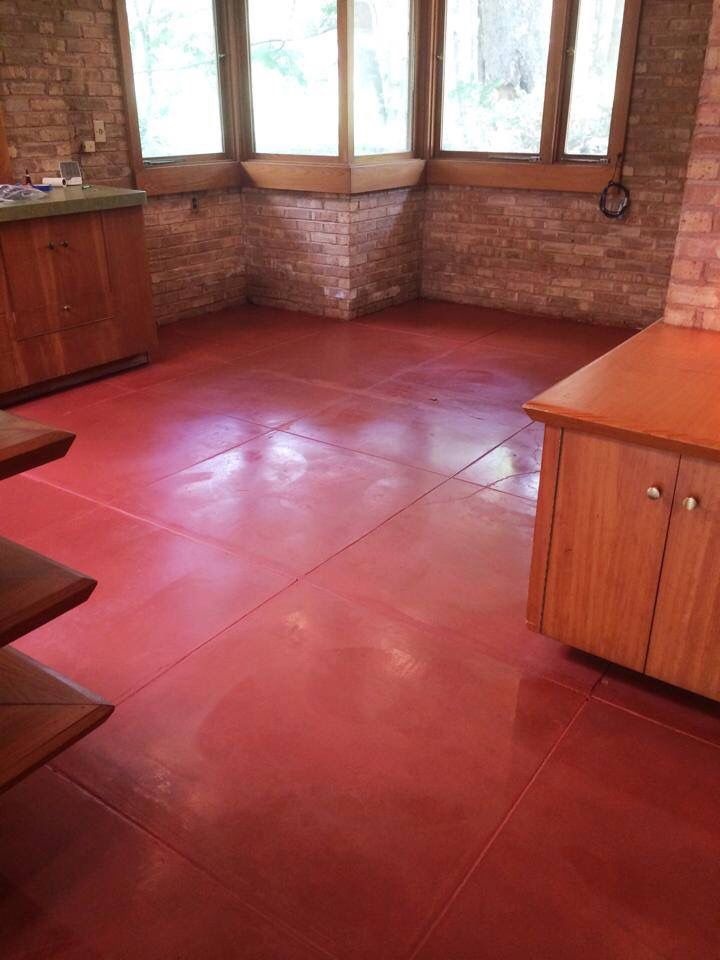 Superb Frank Lloyd Wright Home In Rockford. Floor Refinished By Special Effex  Decorative Concrete