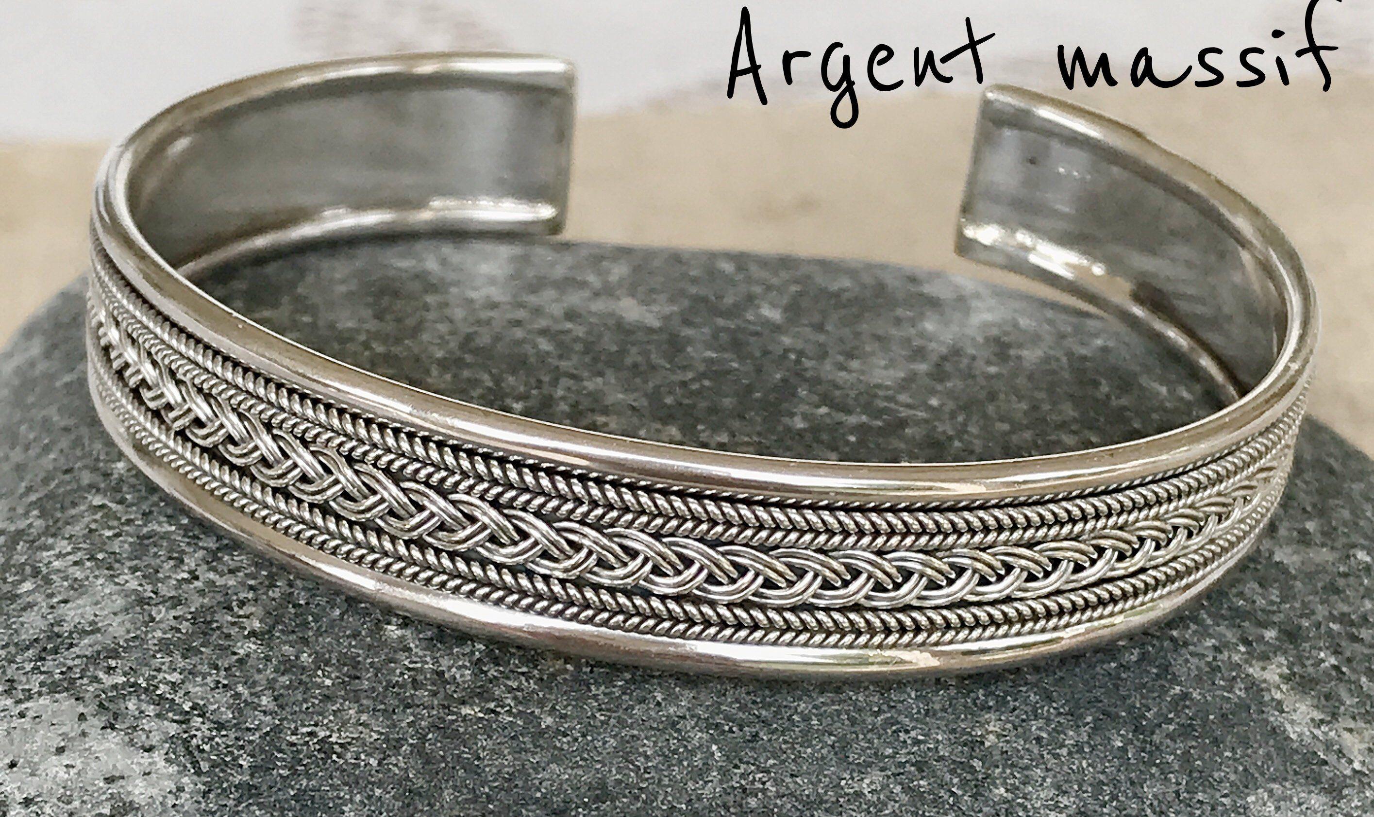 bracelet argent femme 925 jonc