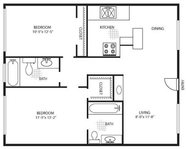 900 Foot Floor Plans Floor Plans Of Longridge Gardens Apartments In Studio City Ca With Images Organize Layout Floor Plan Design Floor Plans