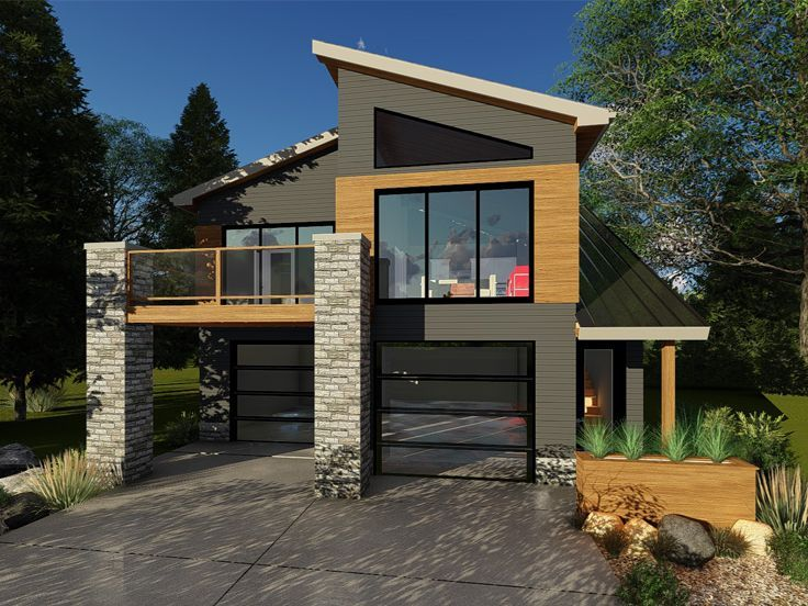 Modern garage apartment plan 050g 0084 garage flats for Modern carriage house plans