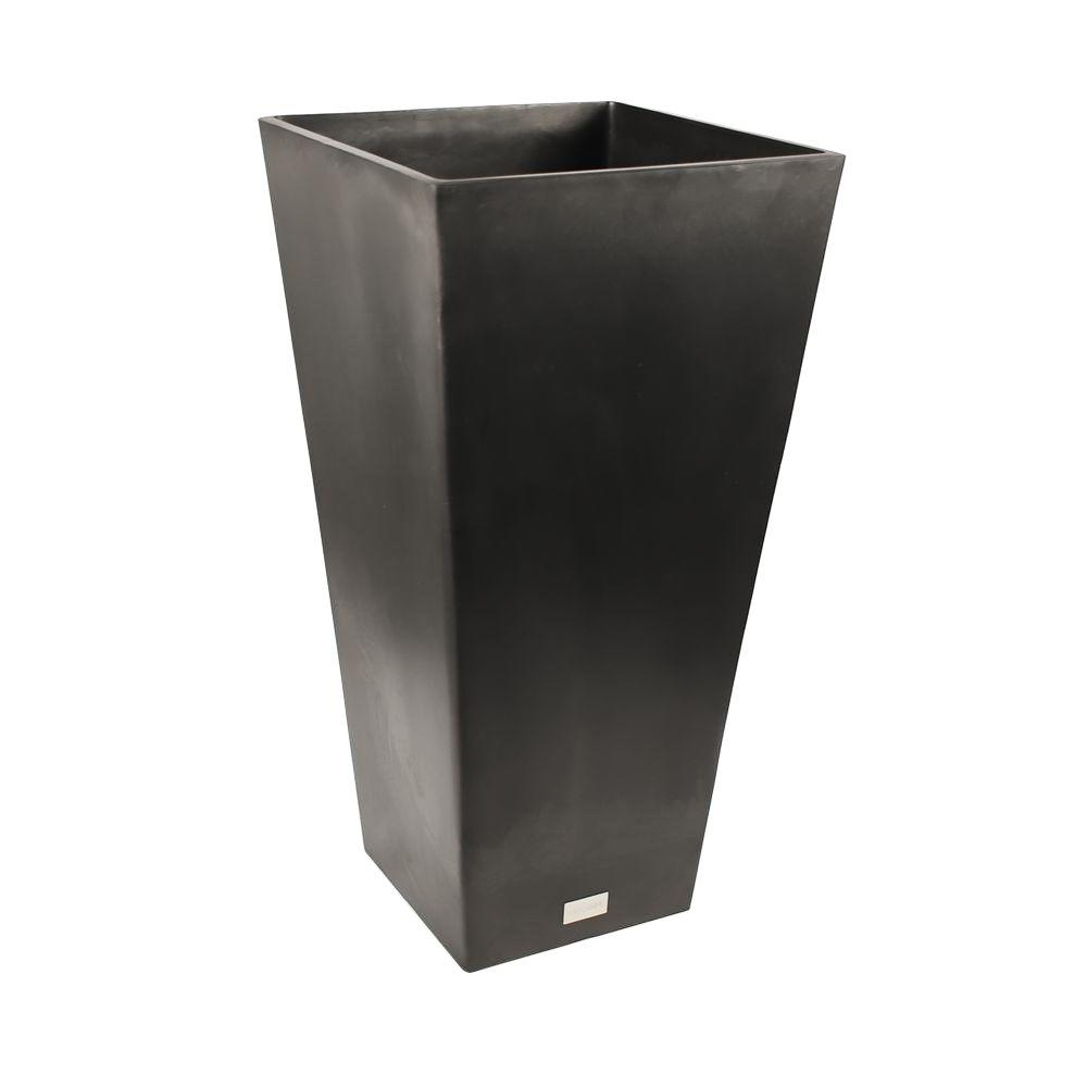 Veradek Midland 16 in. Dia Square Black Tall Plastic Planter ... on home depot plants, home depot outdoor storage benches, home depot trays, home depot column caps, home depot flower specials, home depot artificial topiary, home depot gardening supplies, home depot flower pots, home depot decorative pebbles, home depot outdoor candles, home depot waste baskets, home depot bowls, home depot laundry baskets, home depot summer houses, home depot garden, home depot pedestals, home depot outdoor rooms, home depot yard stakes, home depot tide, home depot 5 gal pots,