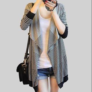 Striped Diagonal-Hem Cardigan from #YesStyle <3 Hansley YesStyle.com