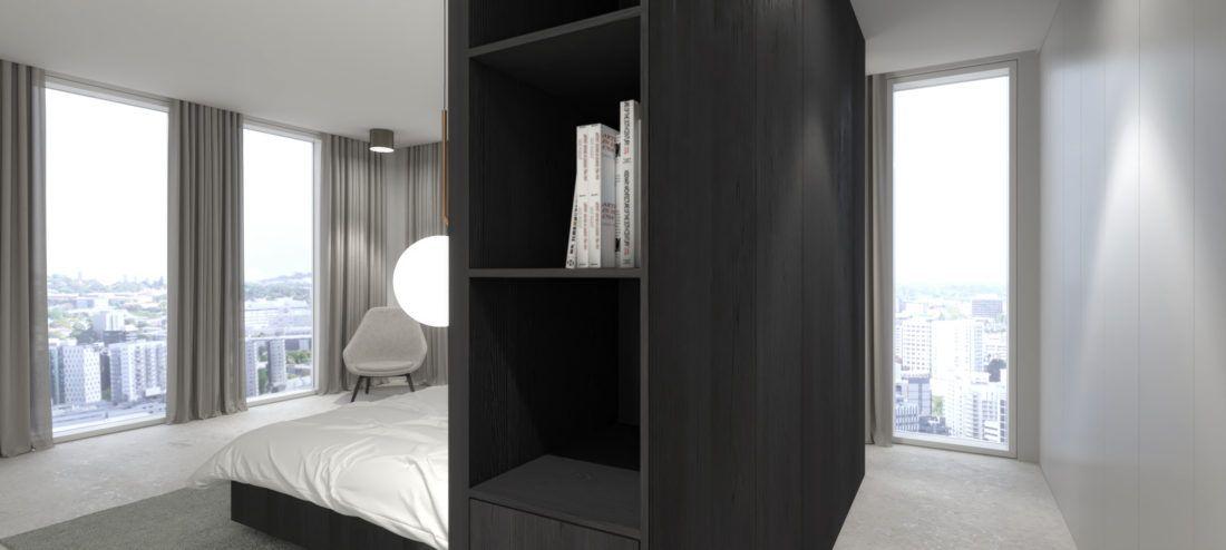 Hochwertiges Interior Design einer Wohnung in München Garderobe