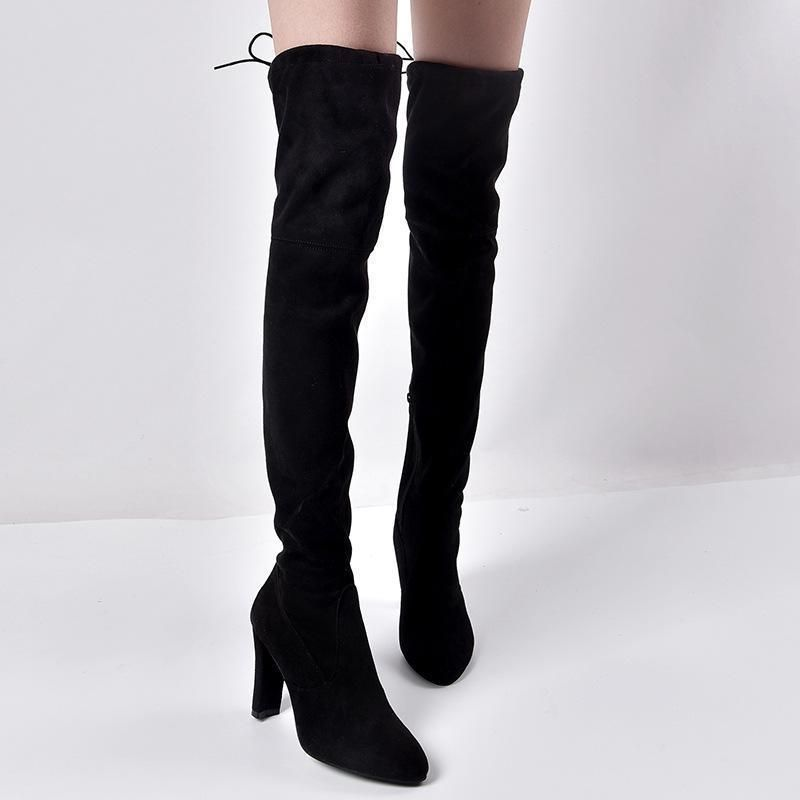 incredible prices famous brand authentic Autumn And Winter Thick With Side Zipper Over Knee Boots | Women ...
