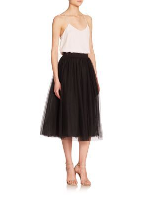 Elizabeth and James - Everleigh Tulle Midi Ball Skirt - Saks.com