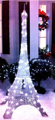 unique huge 6 8 sparkling lighted eiffel tower paris christmas yard decor new christmas