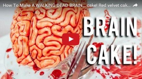 How To Make Creepy Red Velvet Brain Cake For Halloween