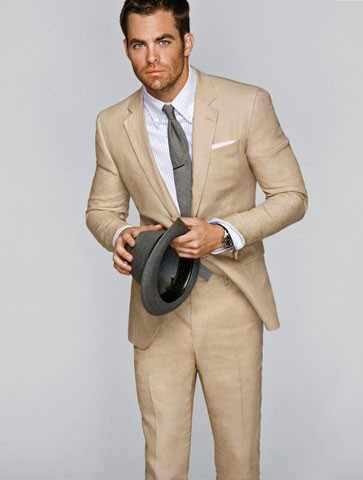 Possible Suit For Our Summer Wedding Also Cream And Grey I Knew It Would Work