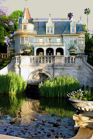 Kimberly Crest house and gardens.  A french chateau-style victorian mansion located in Redlands, CALIFORNIA.