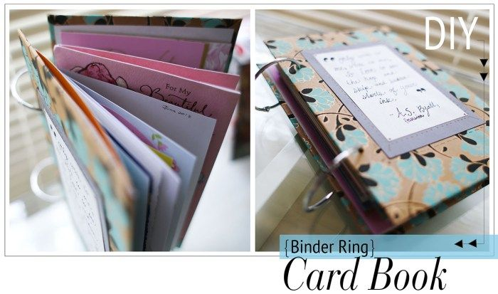 diy binder ring book for your cards | Best DIY projects