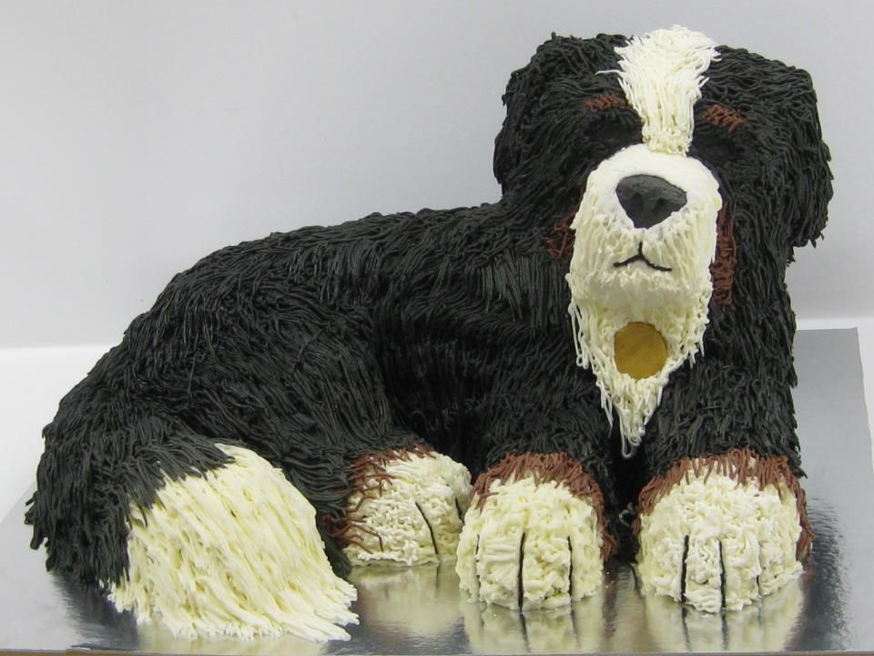 bernese mountain dog wedding cake topper a berner birthday cake bouvier gateau 11267
