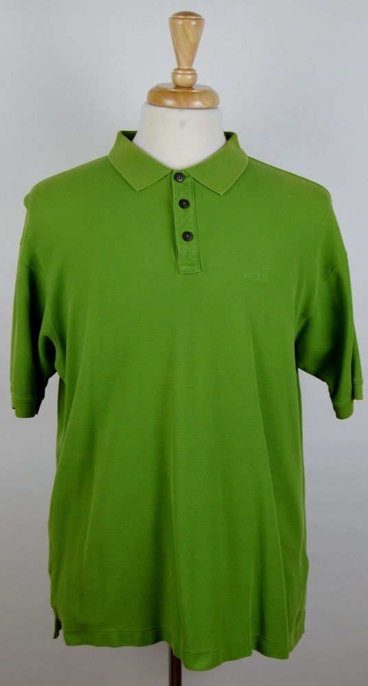 Men's Patagonia Green 100% Organic Cotton Short Sleeve Polo Shirt Sz. Large  #Patagonia #PoloRugby