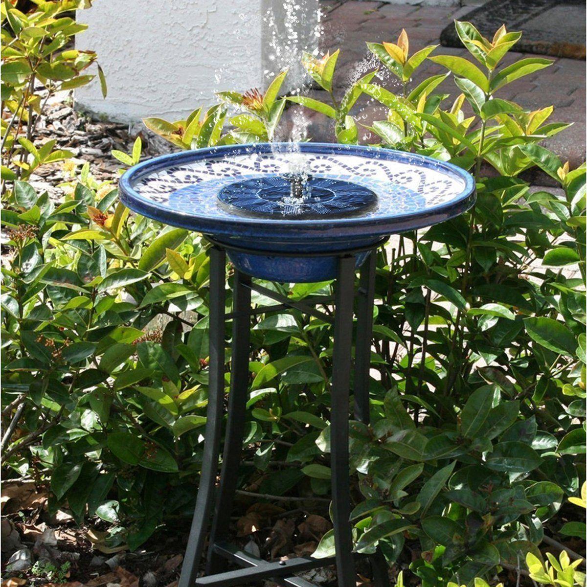 Amazon Com Cute Solar Powered Bird Bath Fountain Pump