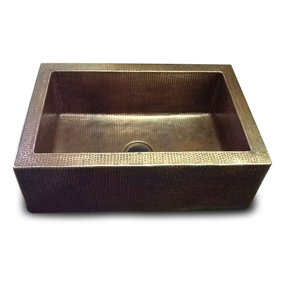 Hammered 30 Inch Farm/Apron Sink | Overstock.com