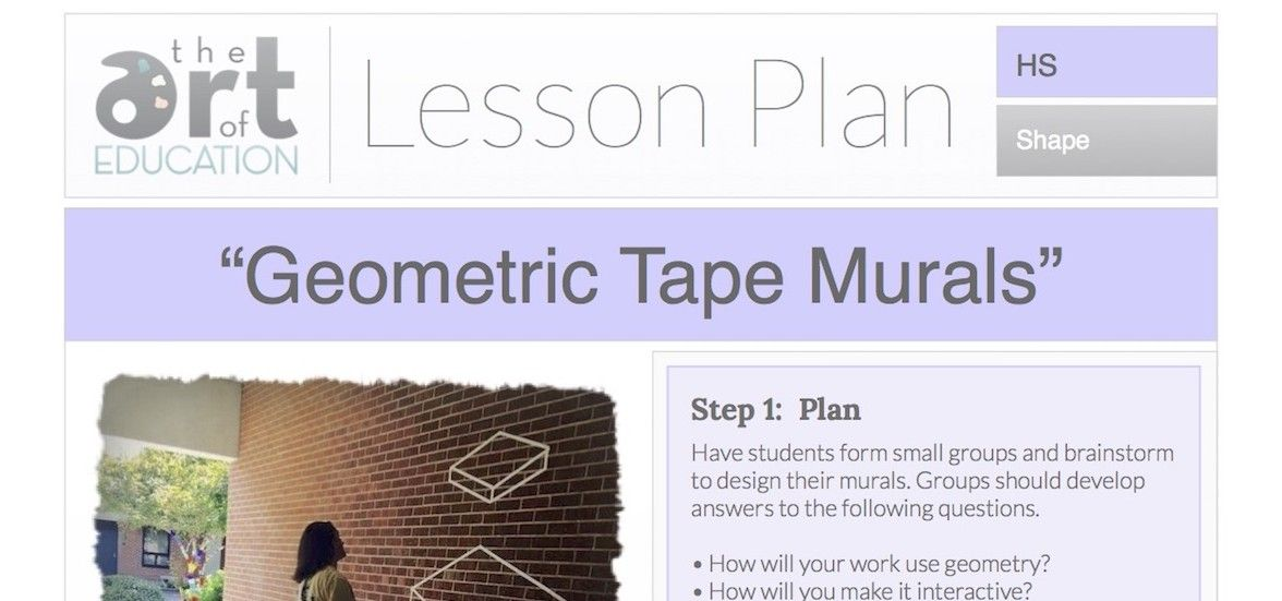 Level: High School Art Education Lesson Plan Art Elements: Line, Shape Art Skills: Perspective, Collaborative Work, Non-Traditional Materials Making Connections: Math, Geometry Want to get your kids outside the classroom and excited about collaboration? Then this lesson is for you! Your students will apply three-dimensional thinking in a fun and quick project that produces great results. It can …