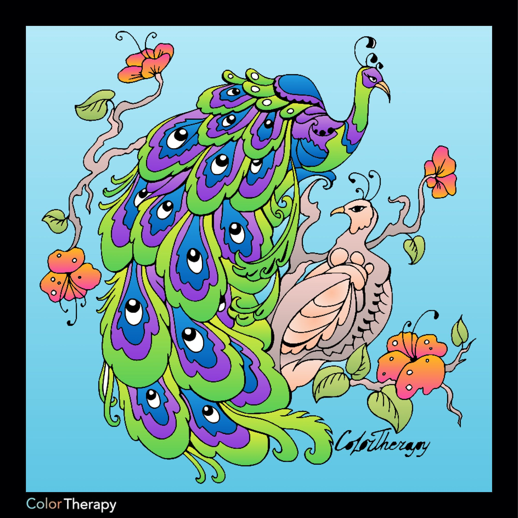 I colored this myself using Color Therapy App. It was so fun and ...