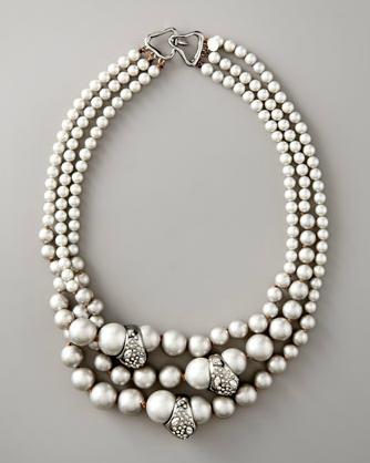 Very nice! Alexis Bittar Triple-Strand Necklace