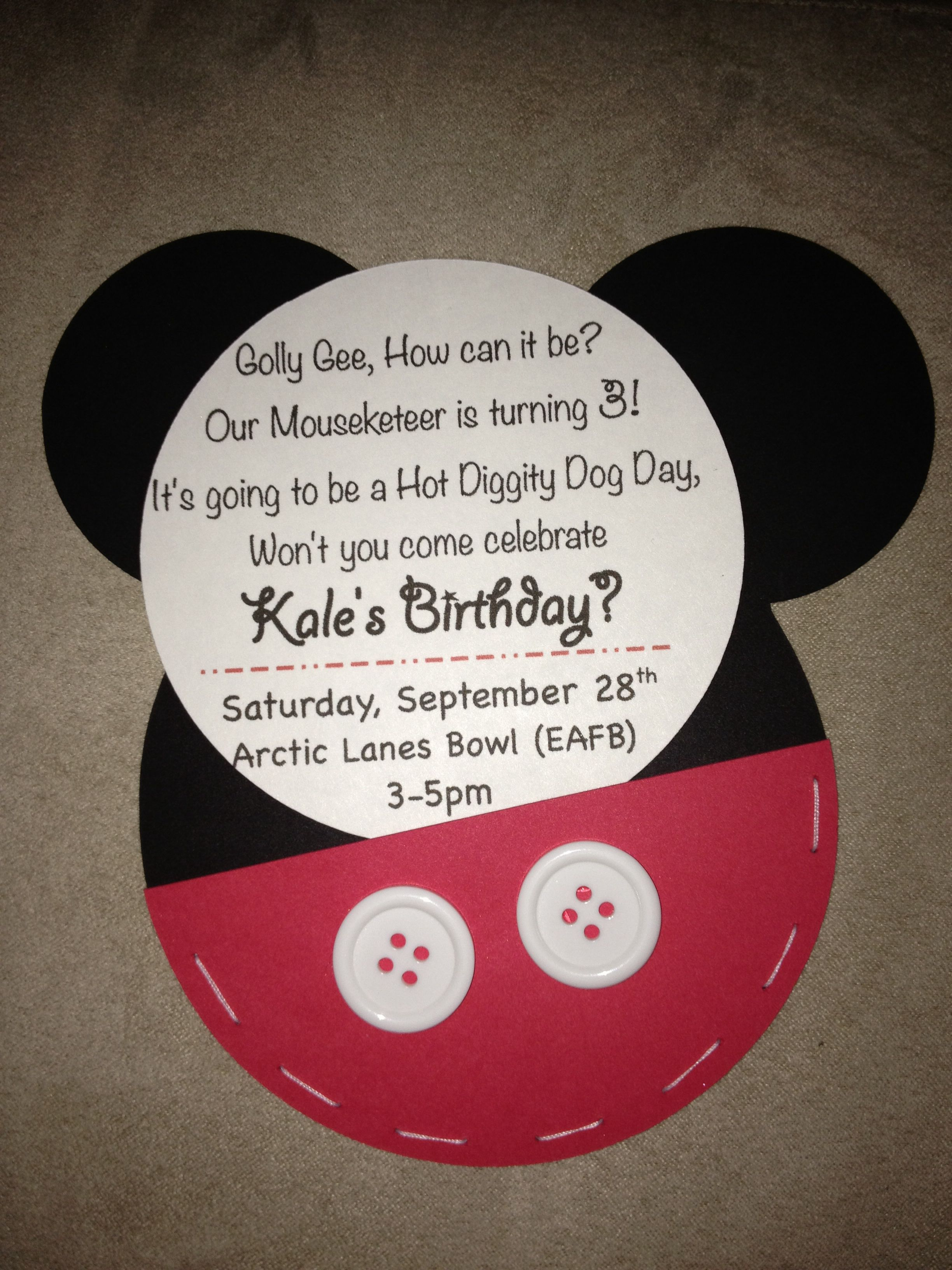 mickey mouse 3rd birthday invitations crafts pinterest mickey