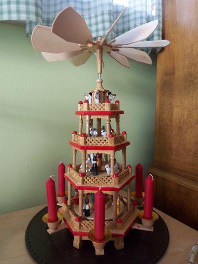 German Christmas Pyramid-- Christmas Tradition I remember  admired