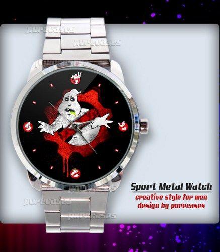 Best Price Gears of Ghostbusters Logo  Sport Metal Watch