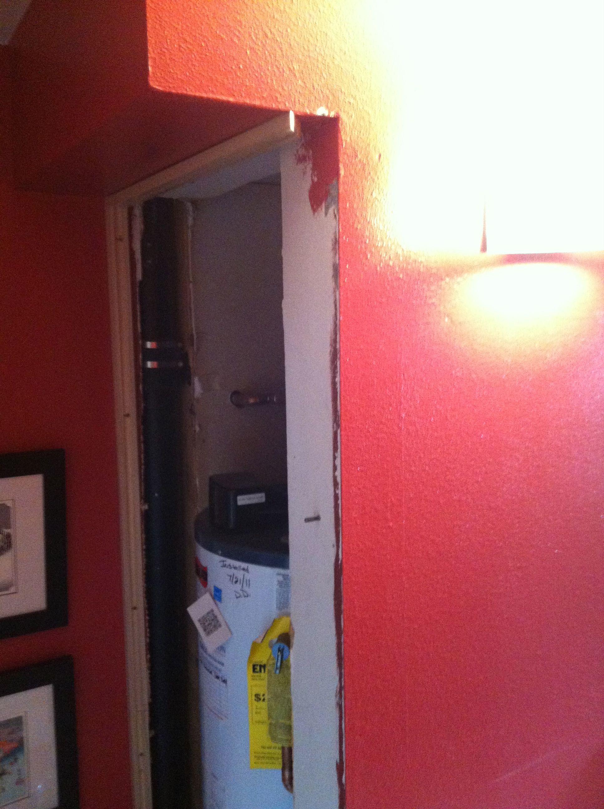 hot water heater behind access panel michael auldridge design rh pinterest com au
