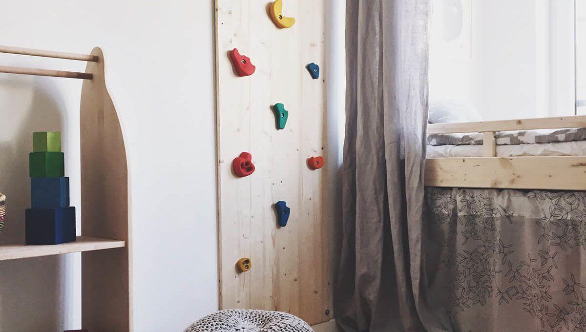 diy kletterwand selsbt gemacht fürs kinderzimmer | diy | pinterest