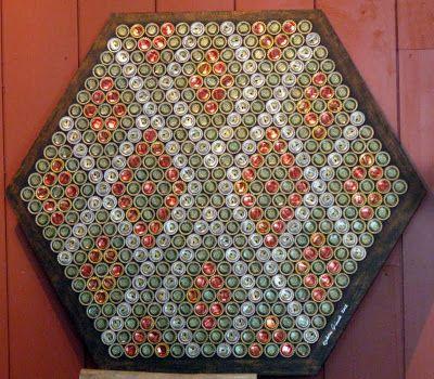 christine minn e art bottle cap mosaic birthday gift ideas rh pinterest com au