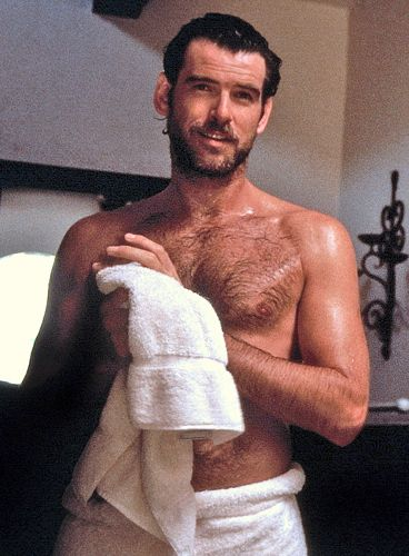 brosnan hairy chest Pierce